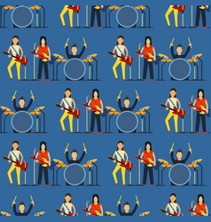 cartoon musician play on sound modern guitar vector image