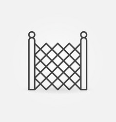 Chain link fencing concept icon in thin vector