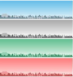 Chiang mai skyline event banner vector