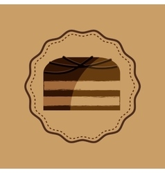 Chocolate sugar desert vector
