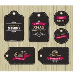 Christmas Sale Gift Tags and lables vector image
