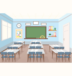 Classroom in school empty vector