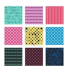 Color polka dots seamless pattern vector image