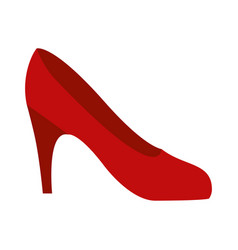 Colorful silhouette of high heel red shoe vector