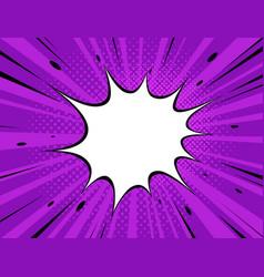 comic explosion background pop art retro style vector image