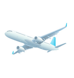 Commercial jet airplane during flight vector