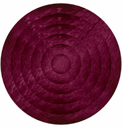 Concentric burgundy circles in mosaic vector