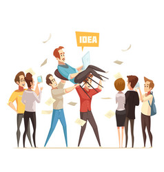 Crowdfunding design concept vector