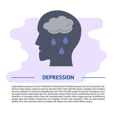 Depression concept in flat style with vector