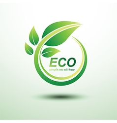 Eco labels5 vector image