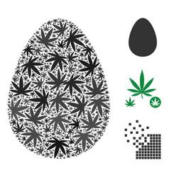 Egg mosaic of marijuana vector