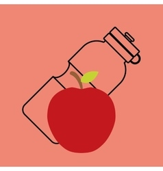 Fitness healthy food vector
