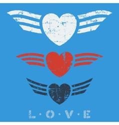 Flat graphic love emblems vector