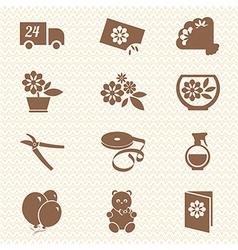 Flower shop ikons vector