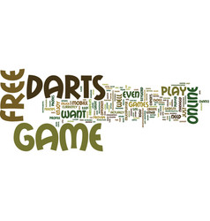 Free darts game text background word cloud concept vector