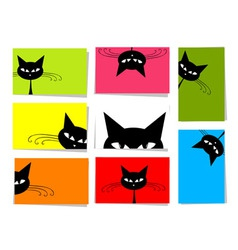 funny cats card vector image