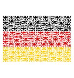 German flag pattern of skull crossbones items vector