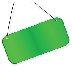green labes over white background vector image