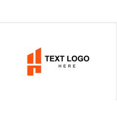 h-initial-mark-real-estate-company-logo vector image