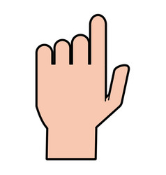 Hand pointing with index finger icon image vector