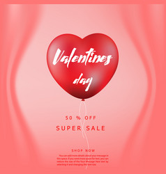 happy valentines day sale background banner pos vector image