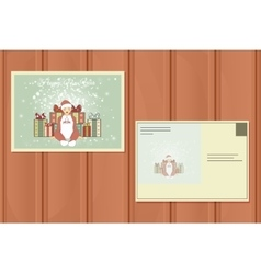 Holiday Postcard New Year Background vector