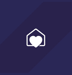 Home with heart logo icon vector