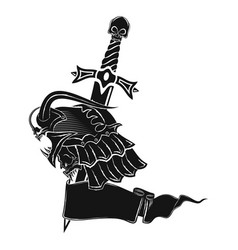 Knight dragon with a dagger 0001 vector