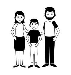 man woman and boy vector image