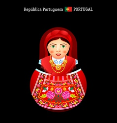 Matryoshka Portugal vector image