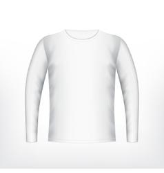 Mens white t-shirt vector