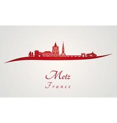 Metz skyline in red vector image