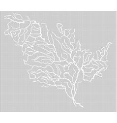 Mississippi river map vector