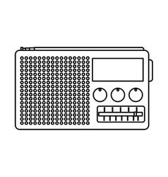 Old radio handle isolated icon vector