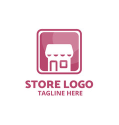online shop store shopping logo for your needs vector image