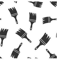 paint brush sign icon seamless pattern background vector image