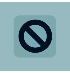 Pale blue NO sign icon vector
