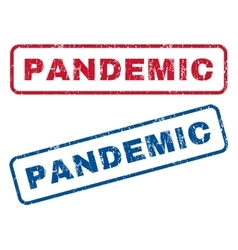 Pandemic rubber stamps vector