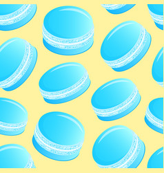 pattern with blue macaroons vector image