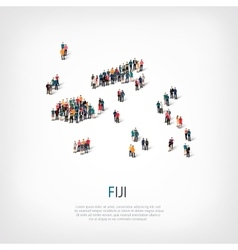 people map country Fiji vector image