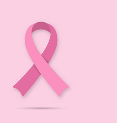 Pink breast cancer awareness symbol vector