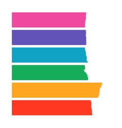 Rainbow color labels vector image