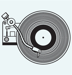 Record player vinyl record vector image