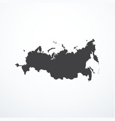 russian federation map icon vector image