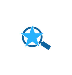 search star logo icon design vector image