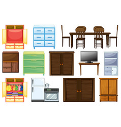 Set house furniture vector