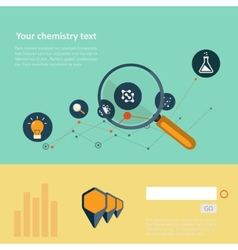 Set of flat design concepts for web and printing vector image
