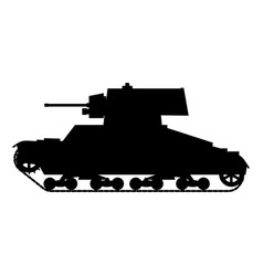 Silhouette tank infantry vickers mke world war 2 vector