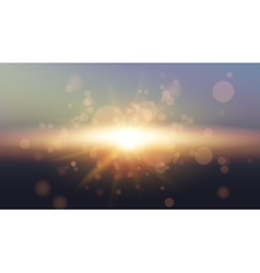 Sky Sun Realistic Bokeh Design Abstract Shining vector image