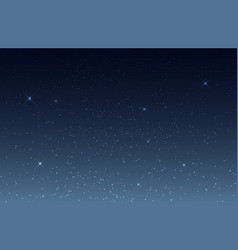 Starry sky night sky with shining stars cosmos vector